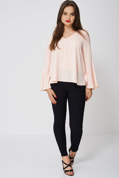 Bell Sleeve Peach Blouse Ex-Branded - First Impression UK