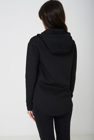 Active Black Jacket with Hoodie Ex Brand, Jackets & Coats - First Impression UK