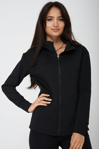 Active Black Jacket with Hoodie Ex Brand