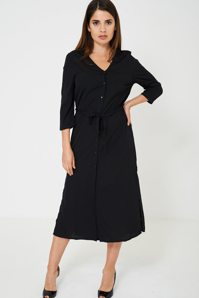 BIK BOK Black Slinky Feel Maxi Dress, Dresses - First Impression UK