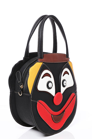 Ladies Clown Face Bag in Black