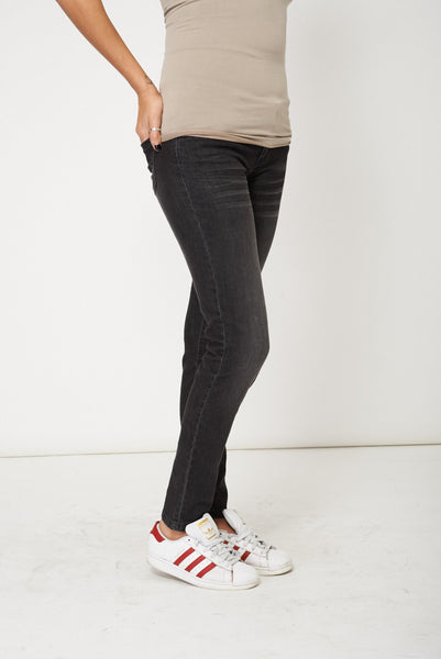 Black Straight Leg Casual Jeans, Jeans & Trousers - First Impression UK