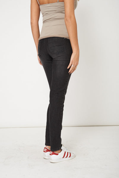 Black Straight Leg Casual Jeans - First Impression UK