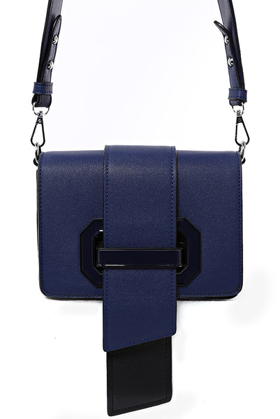 Buckle Cross Body Bag in Navy, Handbags - First Impression UK