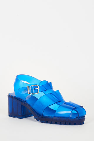 Blue Jelly Sandals Ex-Branded