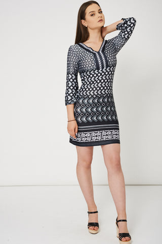 Abstract Pattern Dress - First Impression UK