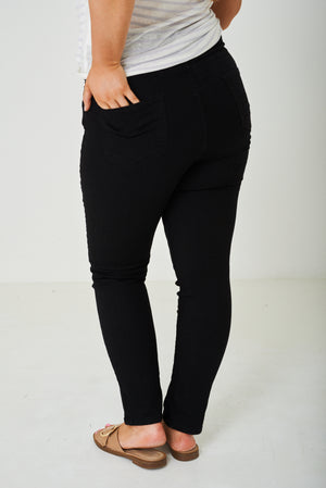 Ladies PLUS SIZE Black Highwaist Jegging Ex Brand