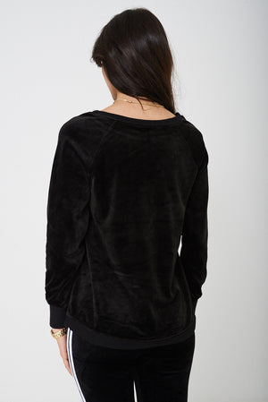 Ladies Black Velvet Jumper