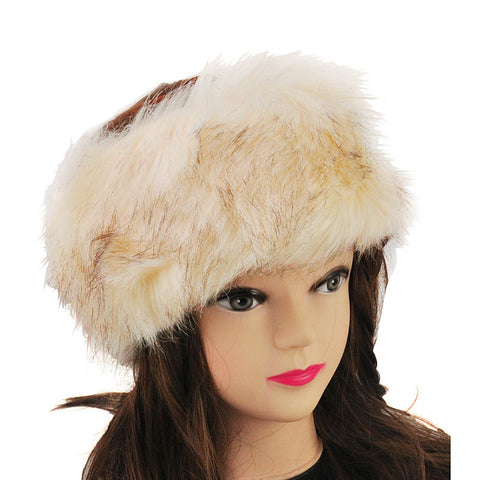 Apricot Luxury Fur Headband - First Impression UK
