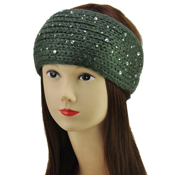 Rhinestone Cover Crochet Headband