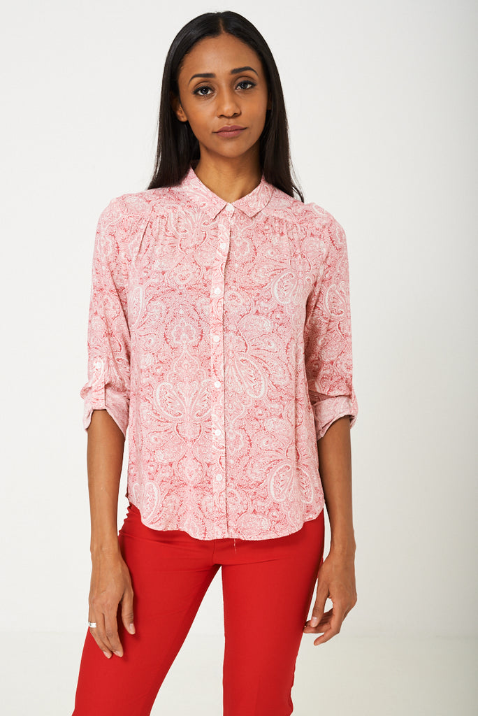 BIK BOK Pink Paisley Print Shirt, Shirts & Blouses - First Impression UK