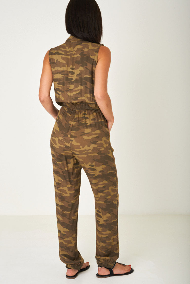 Camo Print Jumpsuit, Jumpsuits & Playsuits - First Impression UK