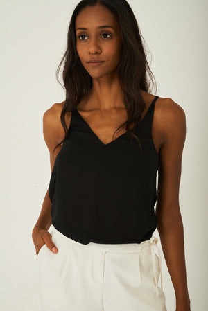 Cami Top in Black, Tops - First Impression UK