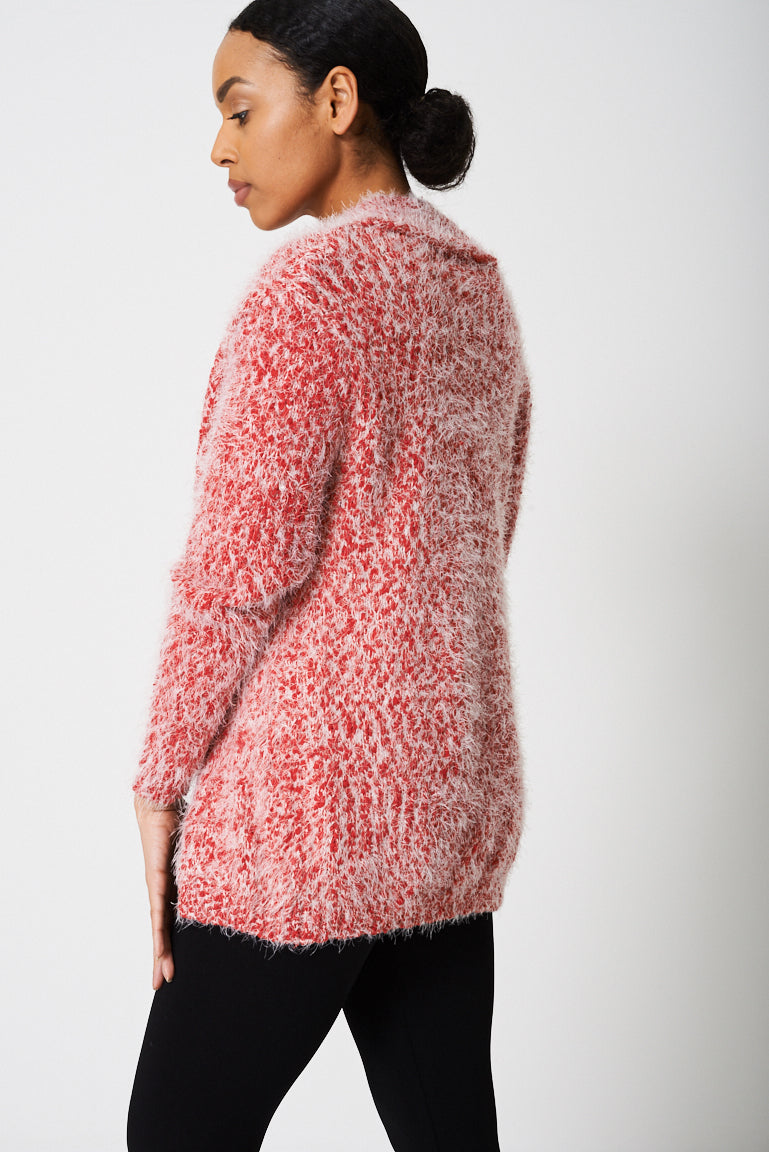 Cardigan In Fluffy Yarn Ex-Branded - First Impression UK