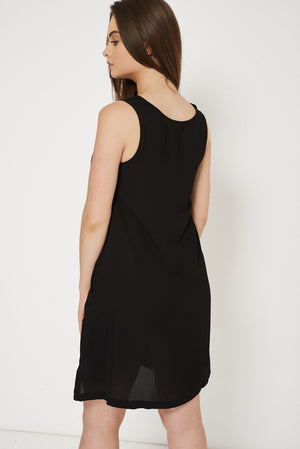 Black Dress With Side Pockets, Dresses - First Impression UK