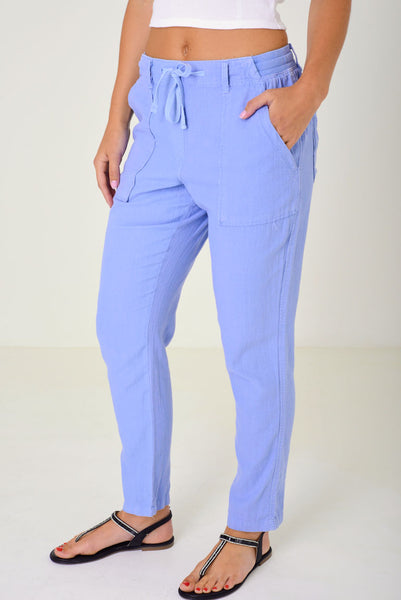 Blue Summer Trousers Ex Brand, Plus Sizes - First Impression UK