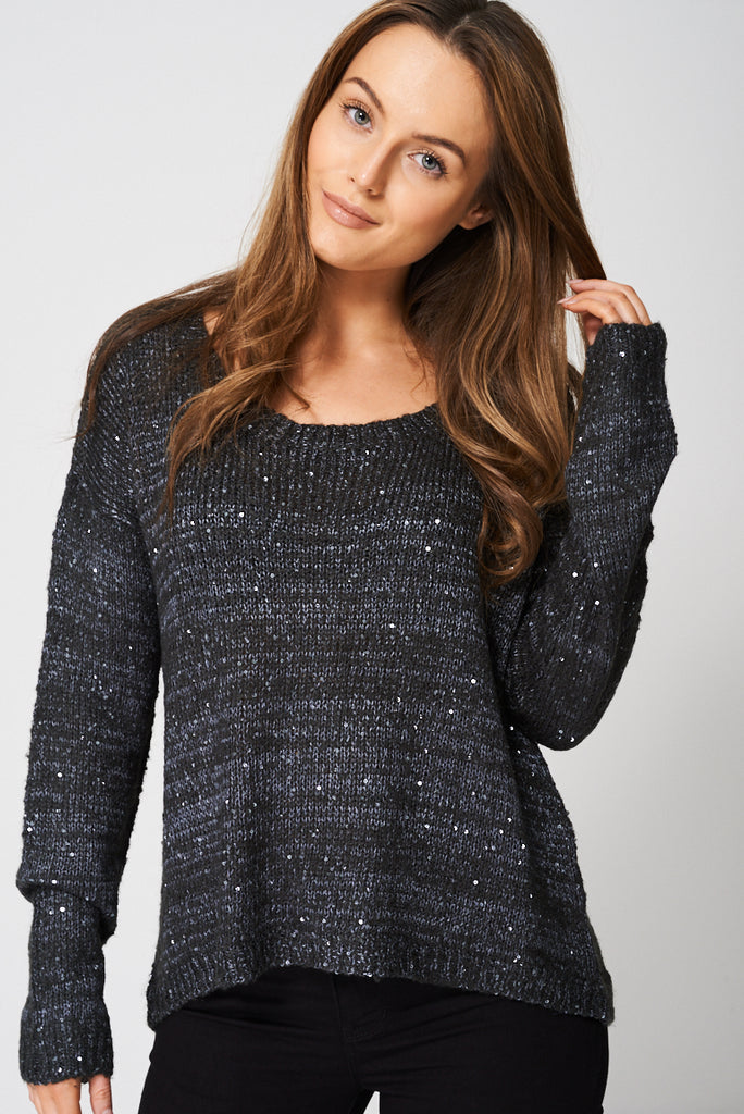 1e24a3c33b879b Buy Sequin Knit Jumper Ex-Branded at First Impression UK for only £16.99