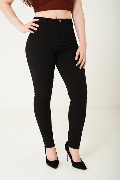 Black High Waist Skinny Jean, Jeans & Trousers - First Impression UK