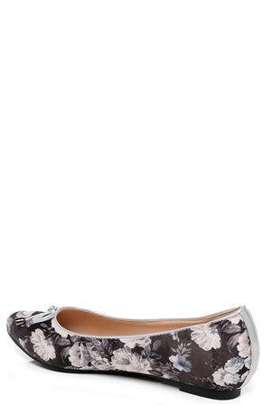 Ladies Floral Pointed Ballet Flats