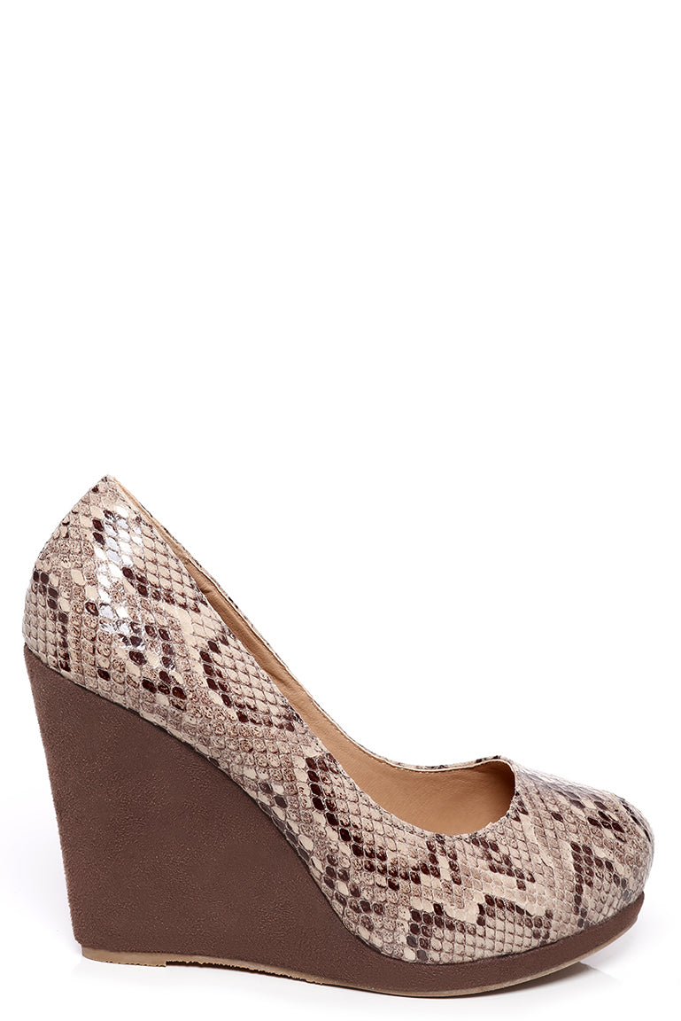 Animal Printed Wedge Shoes, High Heels - First Impression UK