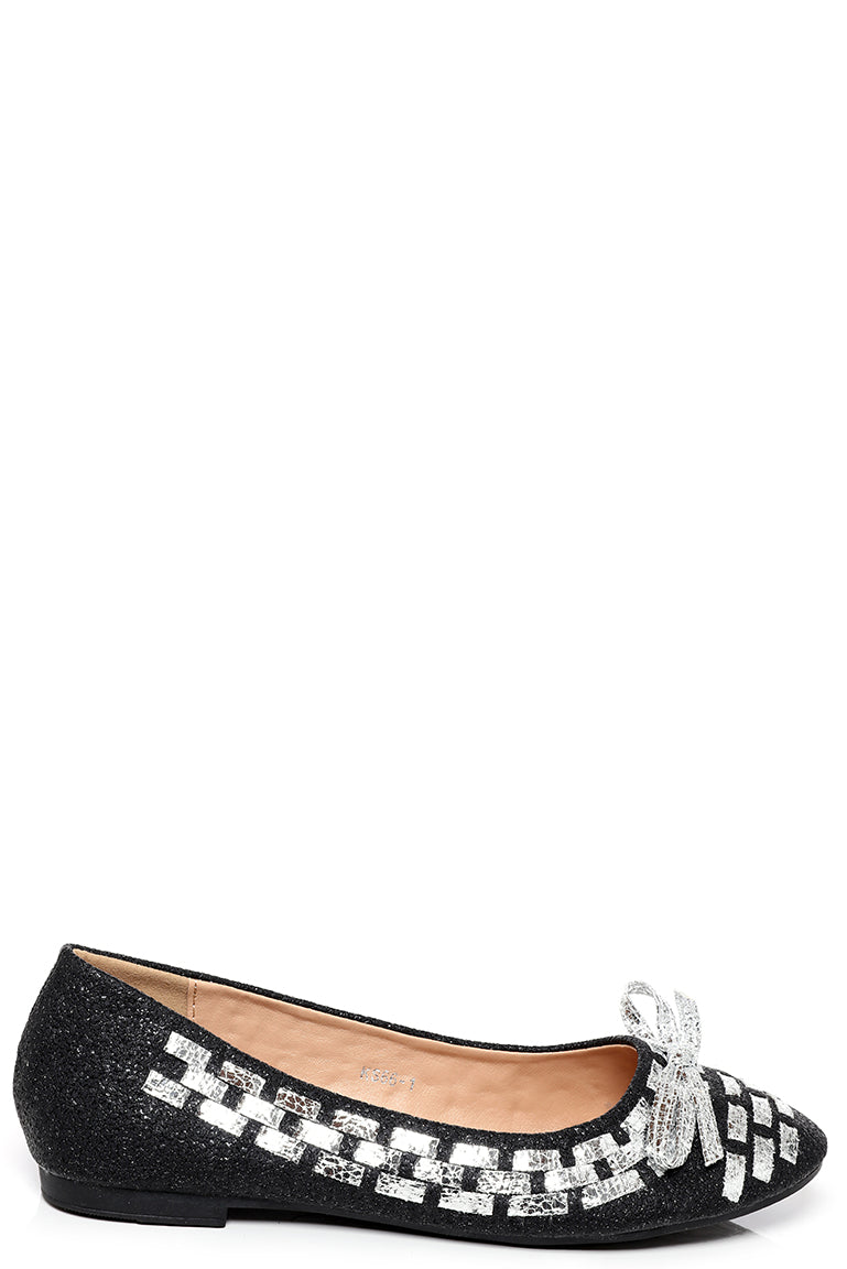 Bow Ballet Flats in Black, Flats - First Impression UK