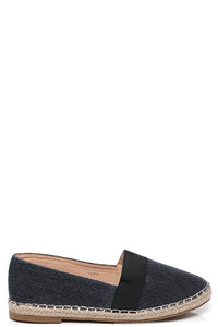 Ladies Dark Wash Navy Espadrilles