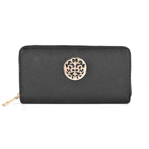 Black Hollow Metal Decoration Women Purse - First Impression UK