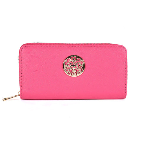 Fushia Hollow Metal Decoration Women Purse - First Impression UK