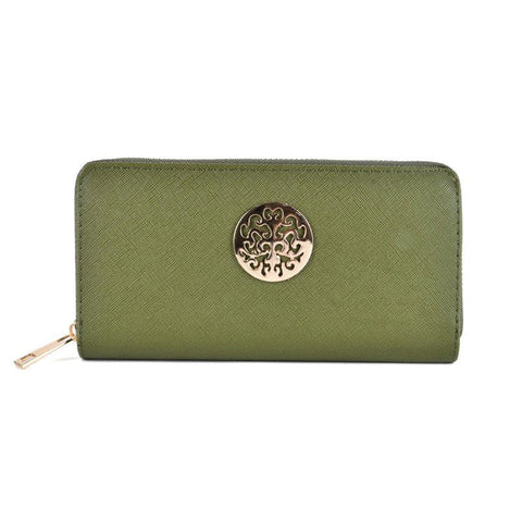 Green Hollow Metal Decoration Women Purse - First Impression UK