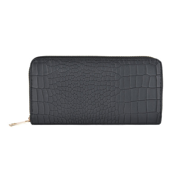 Black Snakeskin Pattern Fashion Purse, Purses - First Impression UK