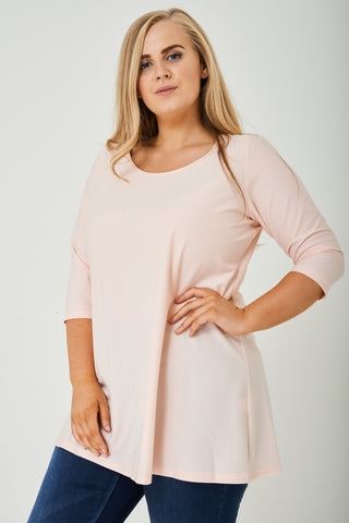 PLUS SIZE Light Pink Tunic Top