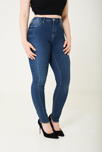 Blue High Waist Skinny Jegging, Leggings & Jeggings - First Impression UK