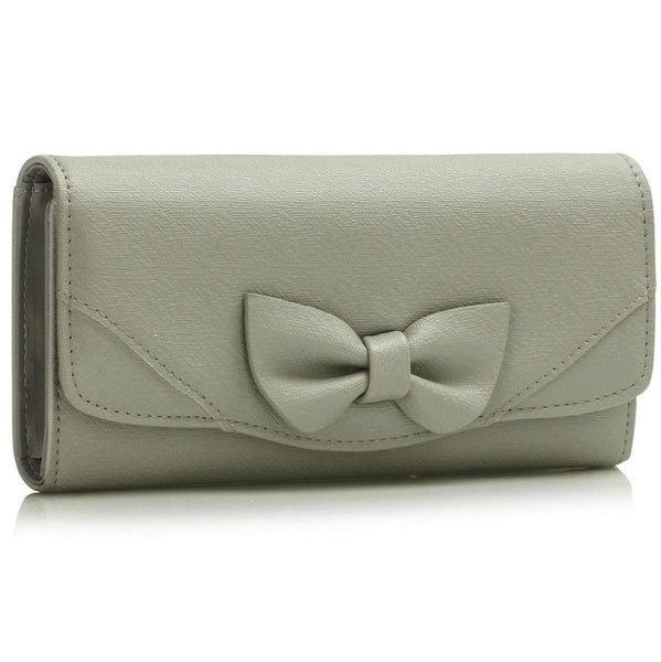 Grey Bow Purse - First Impression UK