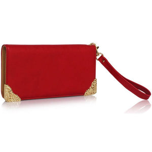 Red Purse with Metal Decoration