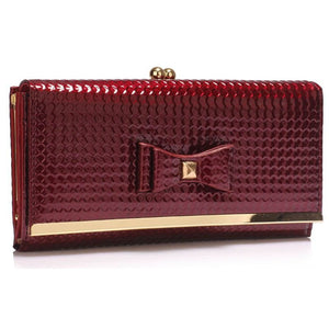 Burgundy Bow Tie Purse, Purses - First Impression UK
