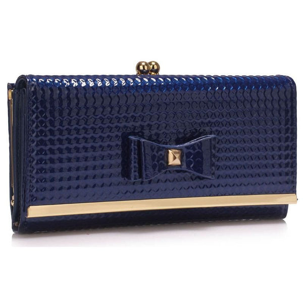 Navy Bow Tie Purse
