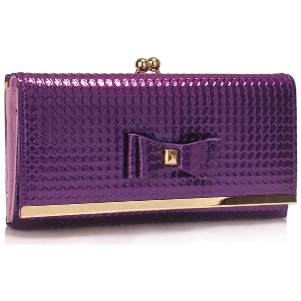 Purple Bow Tie Purse