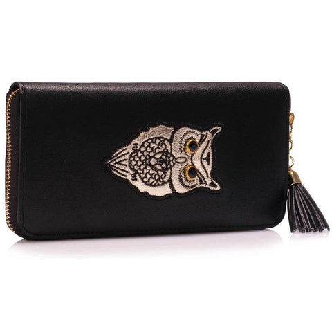 Black Owl Design Purse - First Impression UK