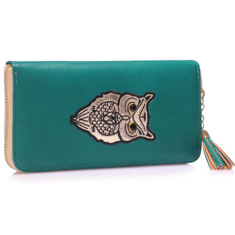 Teal Owl Design Purse/Wallet