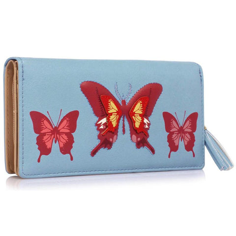 Blue Butterfly Design Purse/Wallet - First Impression UK