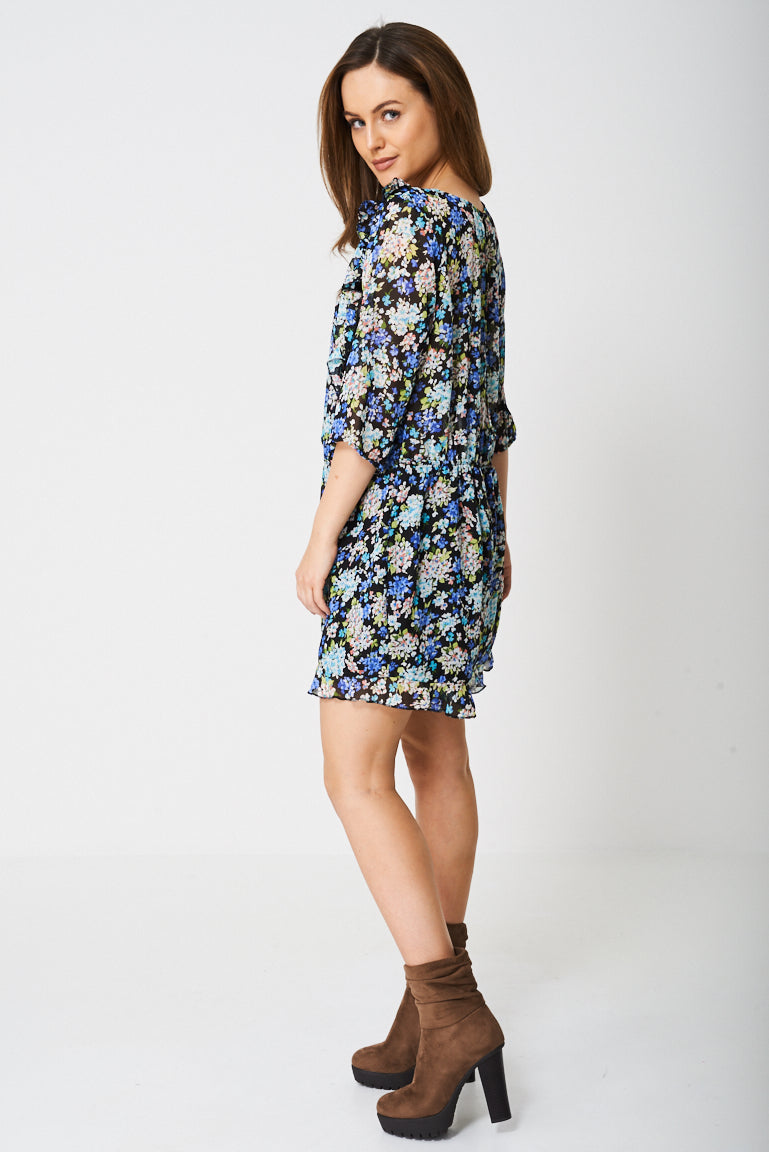 Ladies Floral Frill Playsuit