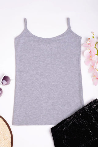 3 PACK Basic Grey Cami Ex Brand - First Impression UK