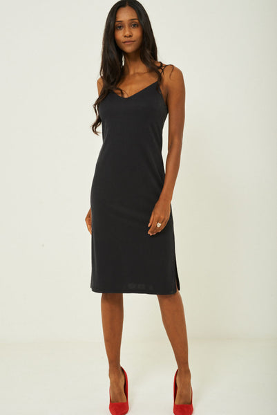 Black Slip Dress Ex Brand, Dresses - First Impression UK