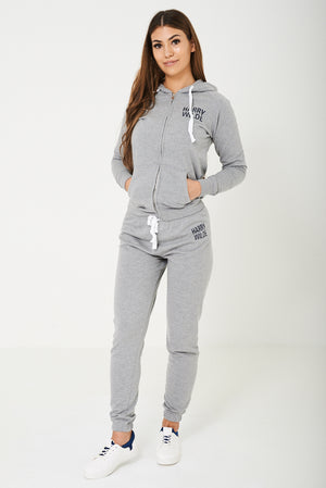 Harry Wilde Logo Sweatpants In Grey - First Impression UK