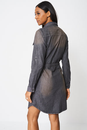 Denim Shirt Dress Ex-Branded - First Impression UK