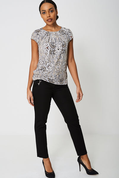 All Over Paisley Print Top Ex-Branded - First Impression UK