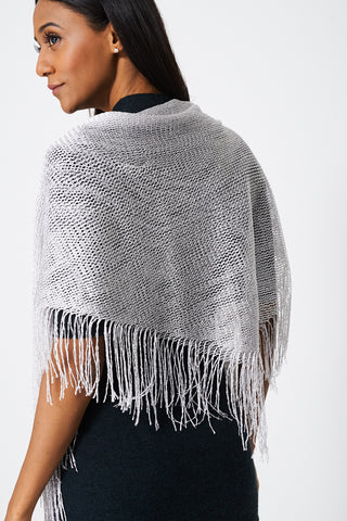 Fringe Glittery Pullover Scarf - First Impression UK