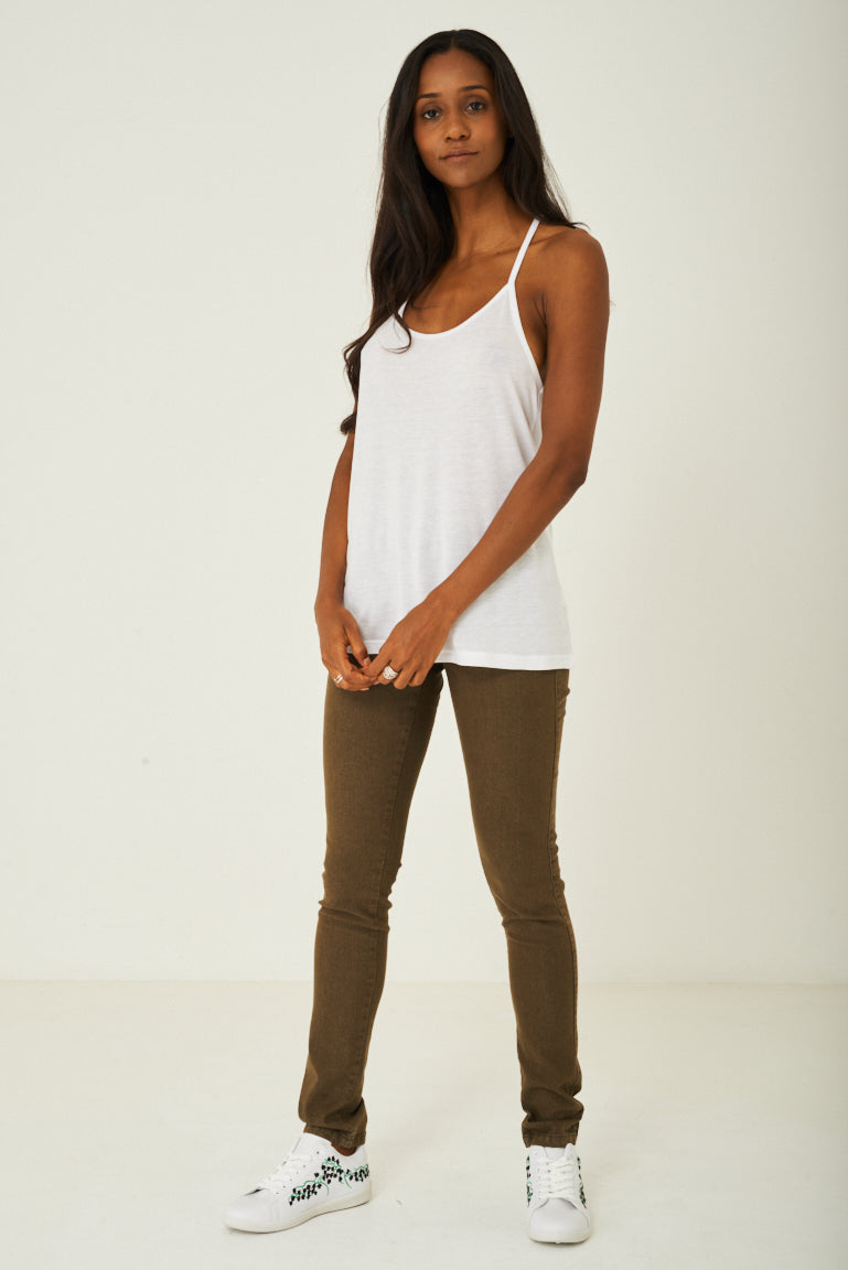 Cami Top in White, Tops - First Impression UK