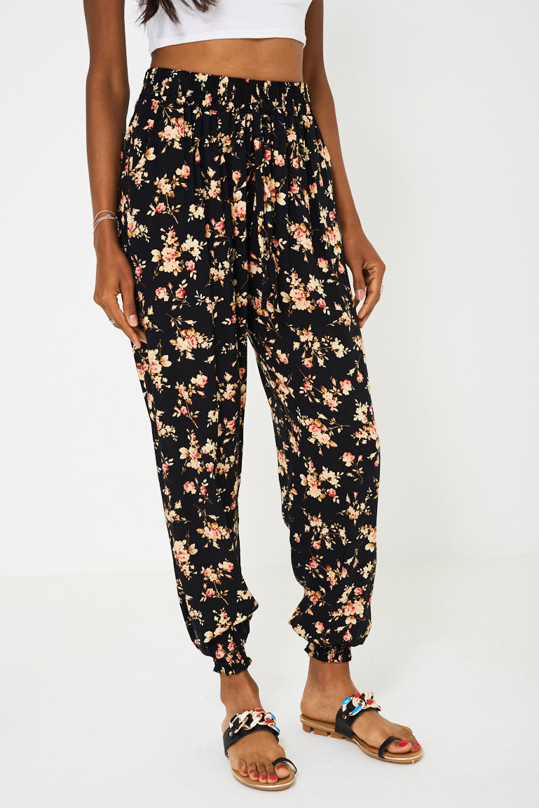 Ladies Floral Harem Trousers