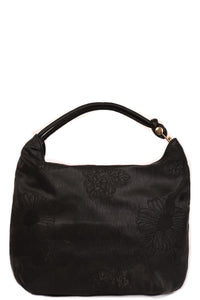 Black Hobo Bag with Embroidery, Handbags - First Impression UK